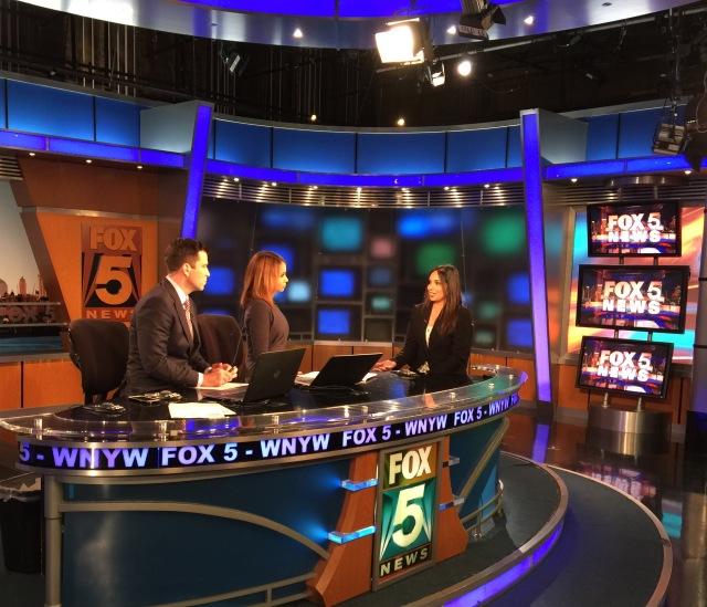On Set At Fox 5 NY